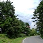 桧原湖へ向かう国道459号