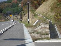 甲子峠への道