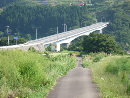 大川ダムを跨ぐ橋