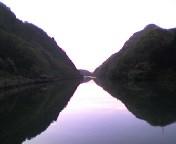 阿賀野川の水面
