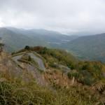 白布峠への道