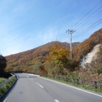 国道118号を岩瀬湯本、湯野上温泉へ