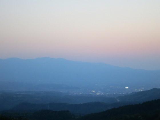 福島市を望む