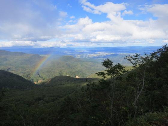 福島盆地と虹